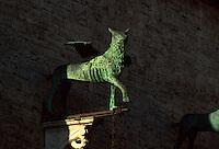 Italien, Umbrien, Detail am Palazzo Comunale (Palazzo dei Priori) in Perugia