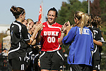 26 October 2008: Duke's Cassidy Powers. The Duke University Blue Devils defeated the Clemson University Tigers 6-0 at Koskinen Stadium in Durham, North Carolina in an NCAA Division I Women's college soccer game.