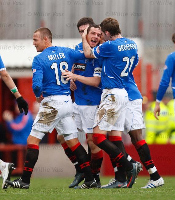 Barry Ferguson celebrates his goal for Rangers