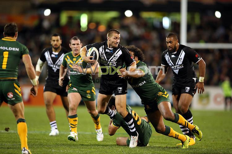 Kieran Foran. Kangaroos v Kiwis. ANZAC League Test. Canberra Stadium, Canberra, Australia. Friday 19 April 2013. Photo: Paul Seiser/Photosport.co.nz