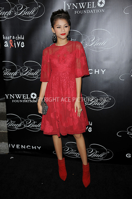 WWW.ACEPIXS.COM <br /> November 7, 2013 New York City<br /> <br /> Zendaya attending Keep A Child Alive's 10th Annual Black Ball at Hammerstein Ballroom on November 7, 2013 in New York City.<br /> <br /> Please byline: Kristin Callahan  <br /> <br /> ACEPIXS.COM<br /> Ace Pictures, Inc<br /> tel: (212) 243 8787 or (646) 769 0430<br /> e-mail: info@acepixs.com<br /> web: http://www.acepixs.com