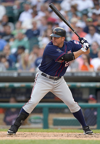May 31, 2011:  Minnesota Twins designated hitter Jim Thome (#25) at bat in game action during MLB game between the Minnesota Twins and the Detroit Tigers at Comerica Park in Detroit, Michigan.  The Tigers defeated the Twins 8-7.