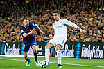 Cristiano Ronaldo (R) of Real Madrid is tackled by Jordi Alba Ramos of FC Barcelona during the La Liga 2017-18 match between FC Barcelona and Real Madrid at Camp Nou on May 06 2018 in Barcelona, Spain. Photo by Vicens Gimenez / Power Sport Images