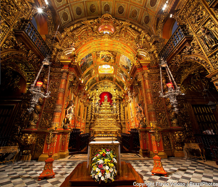 The Benedictine Monastery of Rio de Janeiro, locally referred to in Brazilian Portuguese as Mosteiro de Sao Bento, founded in 1590.