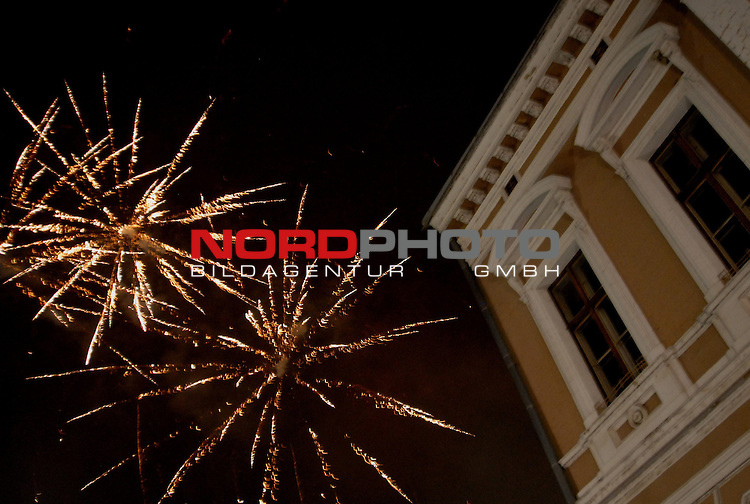 01.01.2014., Slavonski Brod,Croatia  - New Year celebrations .Fireworks over city  on the main square.<br /> Photo: Ivica Galovic/PIXSELL