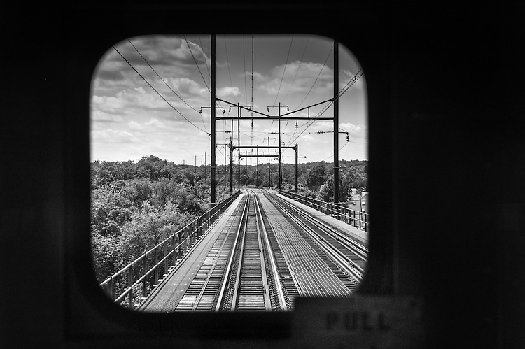 Train ride from Charlottesville, VA to New York, NY.