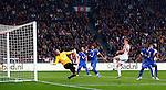 Nederland, Amsterdam, 29 september 2012.Eredivisie .Seizoen 2012-2013.Ajax-FC Twente.Nikolay Mihaylov, keeper (doelman) van FC Twente keert de inzet van Niklas Moisander (4e van rechts) van Ajax.