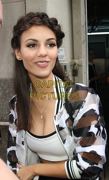 NEW YORK, NY - JULY 9: Victoria Justice at Huffpost Live to talk about her new movie Naomi &amp; Ely's No Kiss List premiering next week at LA's Outfest in New York City on July 9, 2015 <br /> CAP/MPI/RW<br /> &copy;RW/MPI/Capital Pictures
