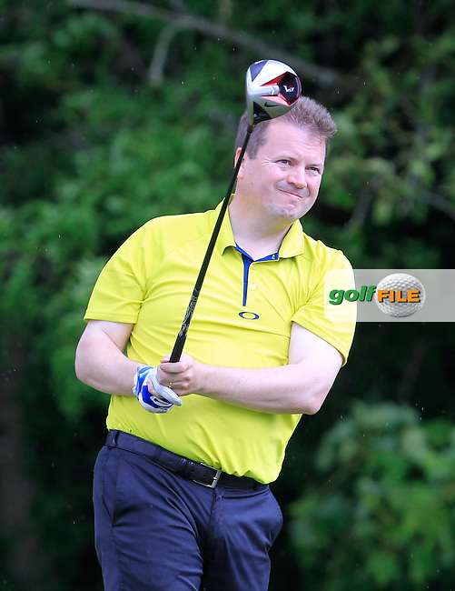 Shane Corr (Mannan Castle) on the 14th tee during Round 2 of the Irish Mid-Amateur Open Championship at New Forest on Saturday 20th June 2015.<br /> Picture:  Thos Caffrey / www.golffile.ie