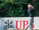 Sam Brazel of Australia tees off the 10th hole during the 58th UBS Hong Kong Golf Open as part of the European Tour on 10 December 2016, at the Hong Kong Golf Club, Fanling, Hong Kong, China. Photo by Marcio Rodrigo Machado / Power Sport Images