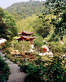 CHINA, Hangzhou, Clean Heart Pagoda and temple with garden and forest, Mejai Wu