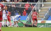 9th September 2017, Madejski Stadium, Reading, England; EFL Championship football, Reading versus Bristol City; Aden Flint of Bristol City scores the first goal in the 84th minute to put his side in front