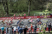 Early Break away group up the Floorberg. with Tsgabu Grmay (ETH/Trek Segafredo), G Lawson Craddock (USA/Cannondale Drapac), Kevin Teltombe (BEL/Sport Vlaanderen Baloise), Edward Dunbar (IRL/Aqua Blue Sport), Bram Tankink (NED/Lotto NL - Jumbo) <br /> <br /> 53th Amstel Gold Race (1.UWT)<br /> 1 Day Race: Maastricht &gt; Berg en Terblijt (263km)