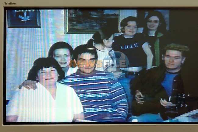 The Heffernan family with Robbie Williams..Video Grab..Photo Fran Caffrey/Newsfile.ie..This picture has been sent to you by:.Newsfile Ltd,.3 The View,.Millmount Abbey,.Drogheda,.Co Meath..Ireland..Tel: +353-41-9871240.Fax: +353-41-9871260.GSM: +353-86-2500958.ISDN: +353-41-9871010.IP: 193.120.102.198.www.newsfile.ie..email: pictures@newsfile.ie..This picture has been sent by Fran Caffrey.francaffrey@newsfile.ie