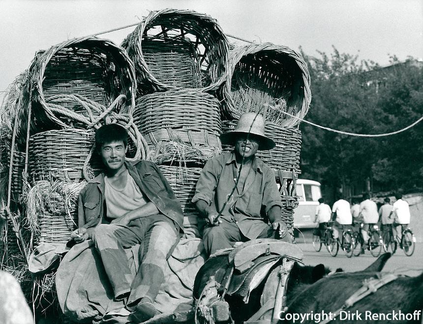 Pferdewagen in China 1980