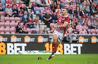 Picture by Allan McKenzie/SWpix.com - 13/07/2017 - Rugby League - Betfred Super League - Wigan Warriors v Warrington Wolves - DW Stadium, Wigan, England - Wigan's George Williams kicks a conversion.