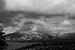 """Cloud Cover"" Black and White Heavenly Ski Resort South Lake Tahoe, California.  I captured this view of Heavenly Ski Resort during the Winter in January 2013.  The clouds were enormous and kept changing every 10 minutes.  I think I have 32GB of photos and video of this scene. South Lake Tahoe is one beautiful places to visit no matter what time of the year."