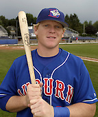 August 23, 2004:  Eric Nielsen of the Auburn Doubledays, Short-Season Single-A affiliate of the Toronto Blue Jays, during a game at Dwyer Stadium in Batavia, NY.  Photo by:  Mike Janes/Four Seam Images