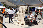 Pic shows: THE FESTIVAL OF STONE<br /> Bristol - which took place over the weekend.<br /> <br /> <br /> A Festival of recognised sculptors as they produce major works on Bristol harbour side,  5 day carving competition for 50 participants, demonstrations, lectures and master classes, street theatre, and hear live music from some of the county's top artists. All culminating in a banquet for 500 with presentations, prizes, music, dance and auction of sculpture.<br /> <br /> <br /> Picture by Gavin Rodgers/ Pixel8000<br />  07917221968