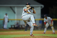 Johnson City Cardinals relief pitcher Walker Robbins (50) in action against the Burlington Royals at Burlington Athletic Stadium on September 4, 2019 in Burlington, North Carolina. The Cardinals defeated the Royals 8-6 to win the 2019 Appalachian League Championship. (Brian Westerholt/Four Seam Images)