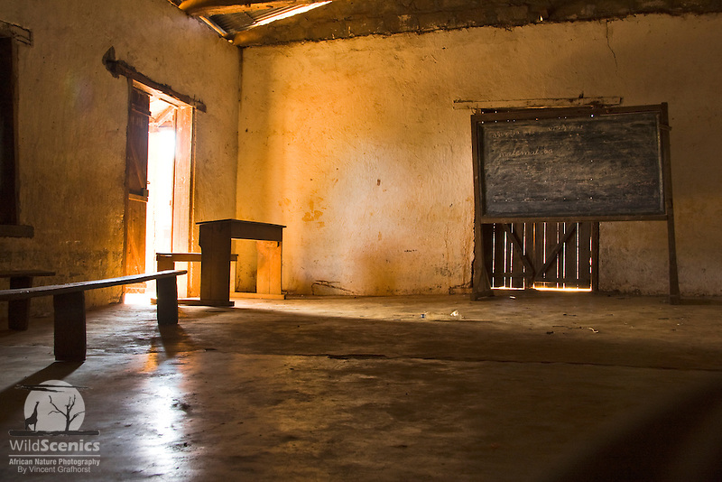 Malagasy classroom at a school in Bekopaka village