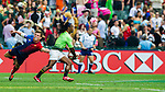 South Africa vs France during the HSBC Sevens Wold Series match of the Cathay Pacific / HSBC Hong Kong Sevens at the Hong Kong Stadium on 28 March 2015 in Hong Kong, China. Photo by Juan Manuel Serrano / Power Sport Images