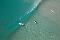 Aerial Photo of Surfers at Ventura Beach California