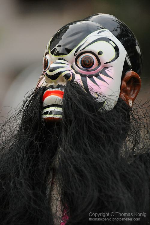 Bao-Jhong Yi-min Temple, Kaohsiung -- Puppet at the annual 'Divine Pig' (Shen Zhu) festival during Ghost Month.