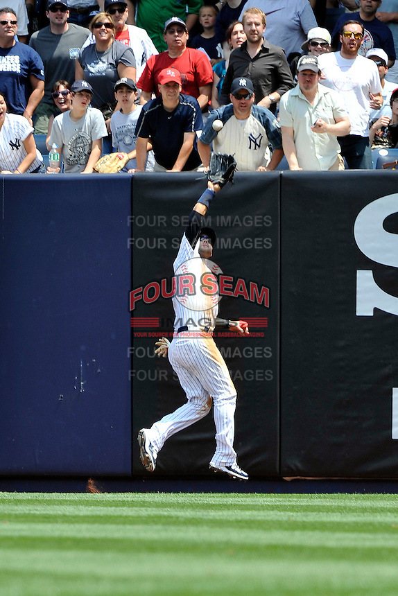 New York Yankees outfielder Nick Swisher #33 during a game against the Texas Rangers at Yankee Stadium on June 16, 2011 in Bronx, NY.  Yankees defeated Rangers 3-2.  Tomasso DeRosa/Four Seam Images