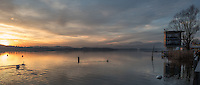 Varese. Lombardia. ITALY. General View. Varese Rowing Club. [Canottieri Varese] Province of Varese.  Sunset/ Finishing Tower<br /> <br /> Monday  02/01/2017 <br /> <br /> [Mandatory Credit; Peter Spurrier/Intersport-images]<br /> <br /> <br /> LEICA CAMERA AG - LEICA Q (Typ 116) - 1/500 - f4