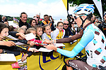 Romain Bardet (FRA) AG2R La Mondiale at sign on before the start of Stage 3 of the Criterium du Dauphine 2017, running 184km from Chambon-sur-Lignon to Tullins, France. 6th June 2017. <br /> Picture: ASO/A.Broadway | Cyclefile<br /> <br /> <br /> All photos usage must carry mandatory copyright credit (&copy; Cyclefile | ASO/A.Broadway)