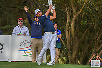 Xander Schauffele (USA) watches his tee shot on 16 during round 2 of the World Golf Championships, Mexico, Club De Golf Chapultepec, Mexico City, Mexico. 2/22/2019.<br /> Picture: Golffile | Ken Murray<br /> <br /> <br /> All photo usage must carry mandatory copyright credit (&copy; Golffile | Ken Murray)