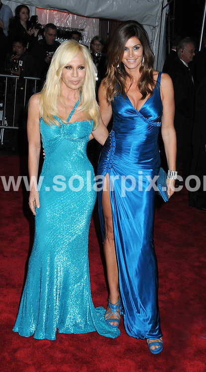 "**ALL ROUND PICTURES FROM SOLARPIX.COM**.**SYNDICATION RIGHTS FOR UK, AUSTRALIA, DENMARK, PORTUGAL, S. AFRICA, SPAIN & DUBAI (U.A.E) ONLY**.Arrivals at ""The Model as Muse: Embodying Fashion"" Costume Institute Gala at The Metropolitan Museum of Art, New York City, NY, USA.This pic:   Donatella Versace and Cindy Crawford.JOB REF:  8957   PHZ/WILD1    DATE:  04.05.09.**MUST CREDIT SOLARPIX.COM OR DOUBLE FEE WILL BE CHARGED**.**ONLINE USAGE FEE GBP 50.00 PER PICTURE - NOTIFICATION OF USAGE TO PHOTO @ SOLARPIX.COM**.**CALL SOLARPIX : +34 952 811 768 or LOW RATE FROM UK 0844 617 7637**"