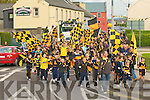 ROCKIES MARCH: The large crowd of Austin Stacks supporters marching to Austin Stack Park for the big game on Sunday.