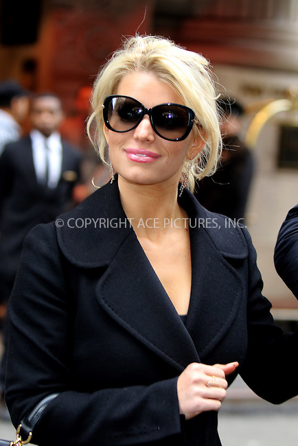 WWW.ACEPIXS.COM<br /> <br /> March 13 2015, New York City<br /> <br /> Singer Jessica Simpson and her husband Eric Johnson leave a midtown hotel on March 13 2015 in New York City<br /> <br /> By Line: Philip Vaughan/ACE Pictures<br /> <br /> ACE Pictures, Inc.<br /> tel: 646 769 0430<br /> Email: info@acepixs.com<br /> www.acepixs.com