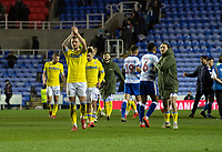Leeds United players applauds the fans at the final whistle <br /> <br /> Photographer David Horton/CameraSport<br /> <br /> The EFL Sky Bet Championship - Reading v Leeds United - Tuesday 12th March 2019 - Madejski Stadium - Reading<br /> <br /> World Copyright &copy; 2019 CameraSport. All rights reserved. 43 Linden Ave. Countesthorpe. Leicester. England. LE8 5PG - Tel: +44 (0) 116 277 4147 - admin@camerasport.com - www.camerasport.com
