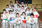 ..FUNDAY: Children who took part in the ITF Fun Day 2008 with their Instructor on Monday evening who were presented with their trophies at the Scout Hall, Garvey's Car Park, Tralee. They were: Jacob and Zac Aldiss, Christian Gaudino, Chloe and Sasha Gaudino, Tadgh McSweeney, Sine?ad McSweeney, Daniel Breen, William O'Connor, Shane Nolan, Marcus Nolan, Andrew Breen, Ali Gardezi, Simon and Danny Draghici......   Copyright Kerry's Eye 2008