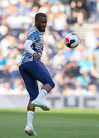 Tanguy NDombèlé of Tottenham Hotspur warms up before the Premier League match between Tottenham Hotspur and Crystal Palace at Wembley Stadium, London, England on 14 September 2019. Photo by Vince  Mignott / PRiME Media Images.