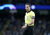 Referee Andreas Ekberg<br /> <br /> Photographer Rich Linley/CameraSport<br /> <br /> UEFA Champions League Group F - Manchester City v TSG 1899 Hoffenheim - Wednesday 12th December 2018 - The Etihad - Manchester<br />  <br /> World Copyright © 2018 CameraSport. All rights reserved. 43 Linden Ave. Countesthorpe. Leicester. England. LE8 5PG - Tel: +44 (0) 116 277 4147 - admin@camerasport.com - www.camerasport.com