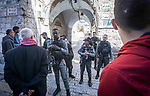 Israeli occupation forces closed the old town and Al-Aqsa Mosque after shoot a young man in Bab Al-Asbat, in the Old City of Jerusalem on February 6, 2020. Photo by Afif Amira/ WAFA