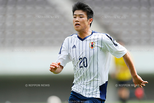 Yuto Iwasaki (JPN), <br /> APRIL 18, 2017 - Football / Soccer : <br /> U-20 Japan National team training match <br /> between U-20 - JEF United Chiba <br /> in Chiba, Japan. <br /> (Photo by Yohei Osada/AFLO SPORT)