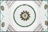 BNPS.co.uk (01202 558833)<br /> Pic: HistoricEngland/BNPS<br /> <br /> Ceiling of the Shah Jahan Mosque - Britain's first purpose built mosque built in Woking in 1889<br /> <br /> A new book from Historic England reveals the spread of Mosque building across Britain.<br /> <br /> The book provide a fascinating insight into the diversity of Britain's 1,500 mosques.<br /> <br /> They range from humble house conversions where small groups gather to magnificent purpose-built complexes which can accommodate thousands of worshippers.<br /> <br /> Architect Shahed Saleem, who has designed a mosque in Hackney, east London, has produced the first comprehensive overview of Islamic architecture on these shores in his new book, The British Mosque.