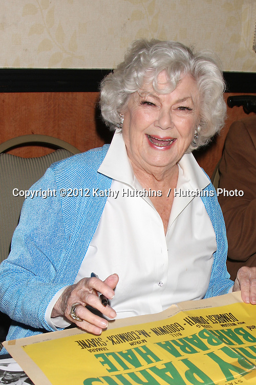 "LOS ANGELES - AUG 4:  Barbara Hale appearing at the ""Hollywood Show"" at Burbank Marriott Convention Center on August 4, 2012 in Burbank, CA"