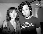 "Pat Benatar and John Mellencamp, known at the time as John Cougar, pose backstage at The Bottom Line in New York City in September 1979. At the time, Benatar had recorded Mellencamp's song ""I Need A Lover"" for her first album."