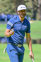 Dustin Johnson (USA) sinks his putt on 6 during round 2 of the World Golf Championships, Mexico, Club De Golf Chapultepec, Mexico City, Mexico. 3/3/2017.<br /> Picture: Golffile | Ken Murray<br /> <br /> <br /> All photo usage must carry mandatory copyright credit (&copy; Golffile | Ken Murray)