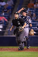 Umpire Reid Joyner during a game between the Tampa Yankees and Lakeland Flying Tigers on April 8, 2016 at George M. Steinbrenner Field in Tampa, Florida.  Tampa defeated Lakeland 7-1.  (Mike Janes/Four Seam Images)