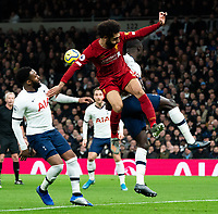 Tottenham's Serge Aurier battles for possession with Liverpool's Mohamed Salah <br /> <br /> Photographer Stephanie Meek/CameraSport<br /> <br /> The Premier League - Tottenham Hotspur v Liverpool - Saturday 11th January 2020 - Tottenham Hotspur Stadium - London<br /> <br /> World Copyright © 2020 CameraSport. All rights reserved. 43 Linden Ave. Countesthorpe. Leicester. England. LE8 5PG - Tel: +44 (0) 116 277 4147 - admin@camerasport.com - www.camerasport.com