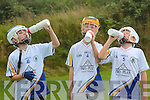 Niall Cassidy, Joey Nash and Evan Foley, Tralee Parnells GAA Club, taking part in the Dr Bill Mangan Memorial Hurling U10 Blitz in Muckross Farms, Killarney National Park on Saturday.Photo:Valerie O'Sullivan