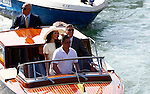 George Clooney and Amal Alamuddin leaves Ca'Farsetti in direction of Ponte Rialto Bridge, on September 29, 2014, where George Clooney and his wife Amal Alamuddin where they have registered their wedding. Photographer / PIERRE TEYSSOT
