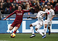 Football, Serie A: AS Roma - Torino, Olympic stadium, Rome, January 19, 2019. <br /> Roma's Nicol&ograve; Zaniolo (l) in action with Torino's Nicolas Alexis Julio Nikoulou (c) and Tomas Eduardo Rincon (r) during the Italian Serie A football match between AS Roma and Torino at Olympic stadium in Rome, on January 19, 2019.<br /> UPDATE IMAGES PRESS/Isabella Bonotto